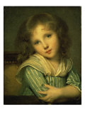 The Girl at the Table Giclee Print by Jean-Baptiste Greuze