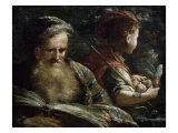 Allegory of Age Lámina giclée por Abraham Bloemaert