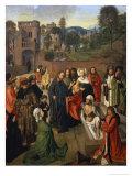 The Raising of Lazarus Premium Giclee Print by  Geertgen tot Sint Jans