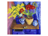 Walnuts and Flowers (Noix et Fleurs) Giclee Print by Isy Ochoa