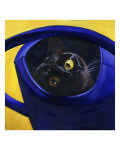 Cat in the Watering Can (Chat a L'Arrosoir) Giclee Print by Isy Ochoa