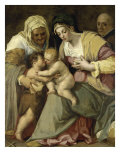 The Holy Family and Saint Anne Lámina giclée por Pieter De Witte