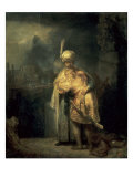 David's Farewell from Jonathan Giclee Print by Rembrandt van Rijn
