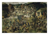 Village Celebration Giclée-Druck von Pieter Brueghel the Younger