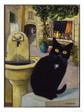 European Cat at St. Paul de Vence, France Giclee Print by Isy Ochoa