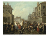 A Carnival in the Streets of Paris Giclee Print by Etienne Jeaurat