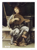 Girl with a Lute Giclee Print by Francesco Francia