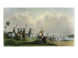 Landing of de Soto at Tampa Bay, 1539 Giclee Print by Seth Eastman