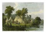 Dakota Encampment Giclee Print by Seth Eastman
