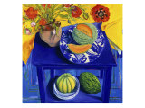 Poppies and Melons (Pavots et Melons) Giclee Print by Isy Ochoa