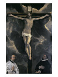 Christ on the Cross Adored by Two Donors Giclee Print by El Greco