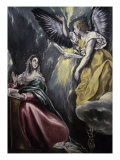 The Annunciation (panel) Giclée-Druck von  El Greco