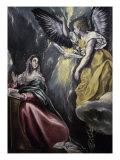 The Annunciation (panel) Lámina giclée por  El Greco