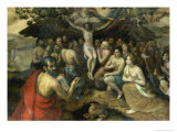 Allegory of the Trinity Reproduction proc&#233;d&#233; gicl&#233;e par Frans Floris the Elder