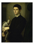 Portrait of a Sculptor Giclee Print by Agnolo Bronzino
