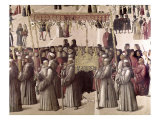 Procession of the Relic of the True Cross Giclée-tryk af Gentile Bellini