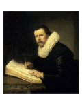 A Scholar Gicledruk van Rembrandt van Rijn