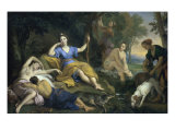 The Repose of Diana Giclee Print by Louis de Boulogne