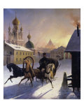 Troika on Stpetersburg Street Giclee Print by Carl Von Hampeln