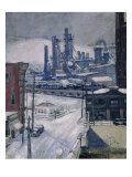 Blast Furnaces in Winter Giclee Print by Harold James Brennan