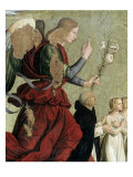 Annunciation with Children and the Cardinal Giclee Print by Antoniazzo Romano