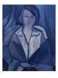 Portrait in Blue Giclee Print by Diana Ong