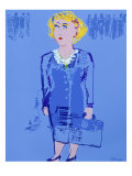 Business Woman Giclee Print by Diana Ong