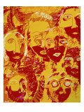 Faces: Yellow and Red Giclee Print by Diana Ong
