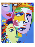 Faces II Giclee Print by Diana Ong