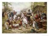 The First Thanksgivng, 1621 Giclee Print by Jean Leon Gerome Ferris