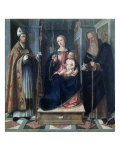 Madonna and Child with Saints Giclee Print by Galeazzo Campi