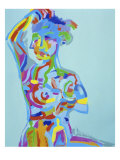 Woman with Raised Arm Giclee Print by Diana Ong
