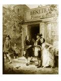Franklin's Bookshop, 1745 Giclee Print by Jean Leon Gerome Ferris