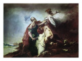 Sacrifice of Isaac Giclee Print by Antonio Guardi