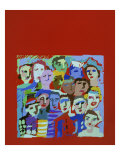 Square Crowd Giclee Print by Diana Ong