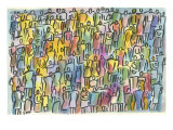 Crowd in Color Giclee Print by Diana Ong