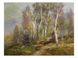 Autumn Birches in the Catskills Giclee Print by Edward B. Gay