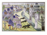 Assault Upon a Saracen City Giclee Print by Jean Froissart
