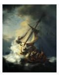 The Storm on the Sea of Galilee Reproduction procédé giclée par Rembrandt van Rijn