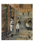 Napoleon Watching Moscow Burning Giclée-Druck von Vasilij Vereshchagin