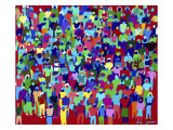 Another Crowd Giclee Print by Diana Ong