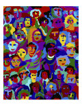Crowd XVI Giclee Print by Diana Ong
