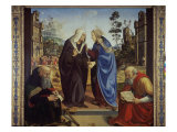 Visitation with St. Nicholas and St. Anthony Abbot Giclee Print by  Piero di Cosimo
