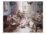 Nursery Giclee Print by Fritz von Uhde