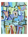 Abstract Crowd Giclee Print by Diana Ong