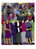 Standing Crowd Giclee Print by Diana Ong