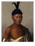 Wakechai (Crouching Eagle) a Sauk Chief Giclee Print by Charles Bird King