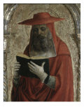 Fornari Polyptych-Detail of Saint Jerome Giclee Print by Vincenzo Foppa