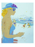 Beach Giclee Print by Diana Ong