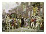 Washington's Inauguration at Philadelphia, 1793 Giclee Print by Jean Leon Gerome Ferris